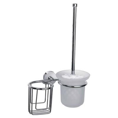 Ledeme L1710-1 Ёрш с крышкой + держатель дезодоранта настенный (стекло)