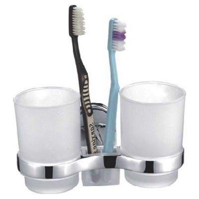 Ledeme L1908 Держатель настенный двух стаканов и зубных щёток (стекло) Каталог 2014