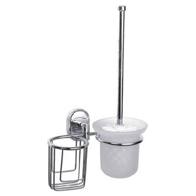 Ledeme L1910-1 Ёрш с крышкой + держатель дезодоранта настенный (стекло)