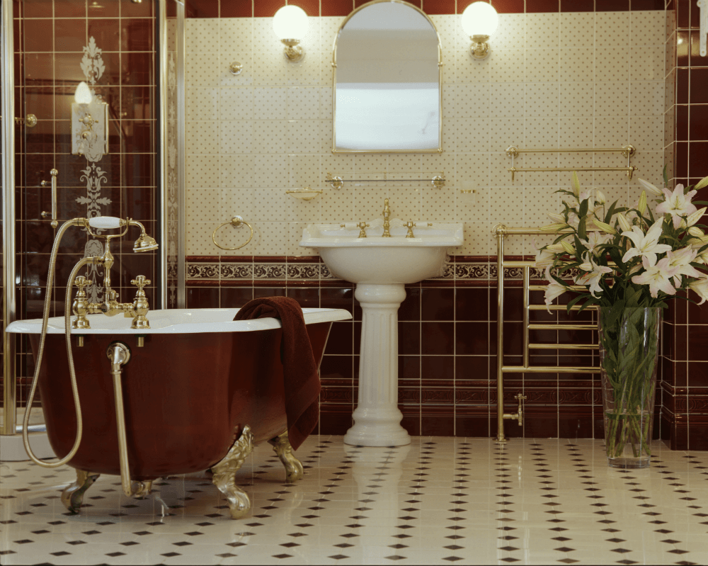Vannaya v angliiskom stile Аксессуары для ванной в английском стиле