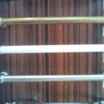 Ручка мебельная GALIUM белый глянец- хром