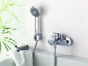 smesitel dlya vanny s dushem 300x225 Аксессуары для ванных комнат LEDEME – высокое качество и доступная цена